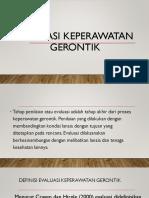 Evaluasi Keperawatan Gerontik