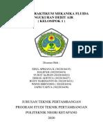 Laporan Praktikum Mekanika Fluida Kelompok 1 TP 4A