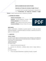 Programa Analitico De Traducción Inglesa