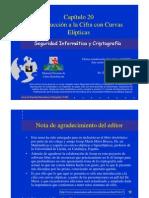 Seguridad Informática y Criptografía. Introducción a la Cifra con Curvas Elípticas