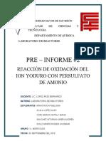 G3 miercoles PRE-INFORME 2 reaccion de oxidacion del ion yoduro con persulfato de amonio.docx