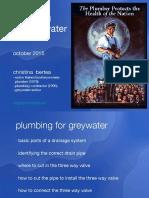 pumbing  for grey water