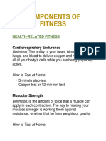 Components of Fitness and Testing Protocols