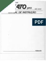 Microcomputador Exato pro MC-4000 - Manual de Instrução