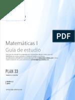 Guía de Estduio Matemáticas I
