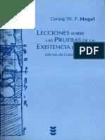 Hegel, G.F.W. - Lecciones sobre las pruebas de la existencia de Dios.pdf