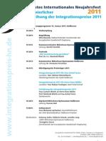 Programmblatt  INF - Internationales Neujahrsfest Heilbronn 2011