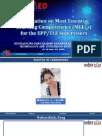 Orientation-on-MELC-for-EPP_TLE-Presentationpdf