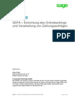Sage 50 SEPA Einrichtung Onlinebanking und Verarbeitung Zahlungsauftraege