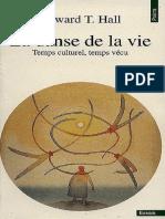 La Danse de la vie - Temps culturel, temps vécu - Edward T. Hall.pdf