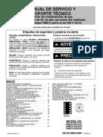 """F9MES MANUAL DE SERVICIO Y SOPORTE TÉCNICO Calefactor de condensación de gas de alta eficiencia de 35"""" de alto con motor del ventilador PSC de una etapa F9MES (serie A) de 220 V 50 Hz.pdf"""