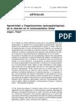 Agresividad y organizaciones (Jorge L. Tizon)