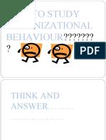 Organizational Behaviour Cs-A