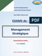 exam-management -strategique