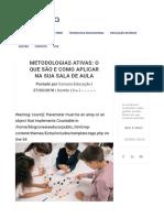 Metodologias ativas_ o que são e como aplicar na sua sala de aula