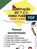 Tcc Dicas de Apresentação 2015