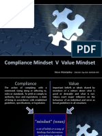 Compliance Mindset  V  Value Mindset