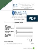 Practical Report 1