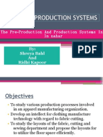 Garment Production and Machinery Equipments