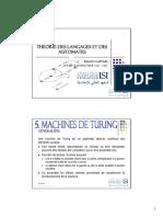 TLA - CH05 - Machines de Turing