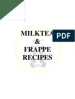 FLAVORED FRAPPE RECIPE'S