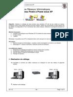 Les Réseaux Informatiques Réseau Poste à Poste sous XP