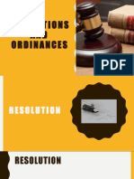 4 - Resolutions and Ordinances