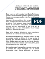 Universidades Manipulan Notas de Sus Alumnos