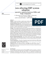 Factors Affecting ERP System Adoption