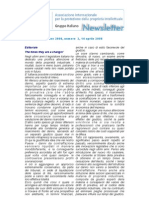 Newsletter Newsletter Anno 2008, Numero 2, 14 Aprile 2008