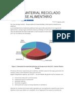 USO DE MATERIAL RECICLADO EN ENVASE ALIMENTARIO