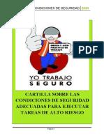 CARTILLA SOBRE LAS CONDICIONES DE SEGURIDAD ADECUADAS PARA EJECUTAR TAREAS DE ALTO RIESGO