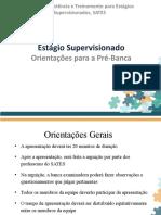 Orientações para as Apresentações da Pré Banca - Noturno.pptx