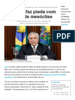 Temer faz piada com uso de mesóclise - Época NEGÓCIOS _ Brasil