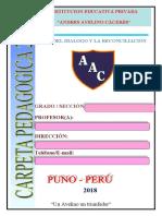 CARPETA PEDAGOGICA 2018  AAC -  PUNO.doc