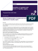 UK FSA Guidance Consultation - Review of Implementation of Systems and Controls Requirements in Liquidity Regime