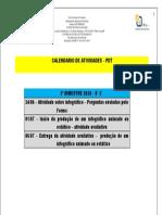 8° C CALENDÁRIO DAS ATIVIDADES