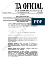 Gaceta Oficial 41850 Sumario y Resolución BCV