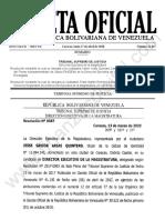 Gaceta Oficial 41867 Sumario
