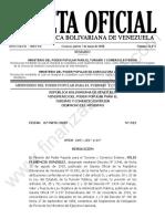 Gaceta Oficial 41874 Sumario