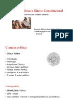 1-Ciencia Política e Direito Constitucional