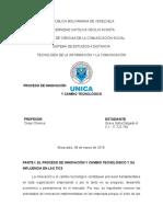 PROCESO DE INNOVACIÓN Y CAMBIO TECNOLÓGICO