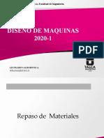 Diseño de Maquinas 2020_1_Repaso Materiales