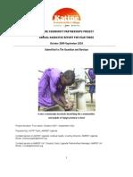 Amref annual report on Katine
