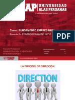 LA FUNCIÓN DE DIRECCIÓN