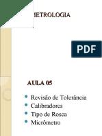 AULA 05 - METROLOGIA
