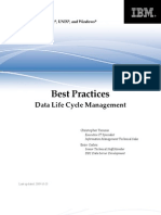 DB2BP Data Life Cycle 1009I