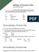 Presentation 2 the morphology of lexical verbs