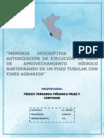 FREDDY PIÑASHCA Y ESPOSA auto. de ejec. de obra