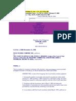1. Rose Packing Co., Inc. v. CA., 167 SCRA 309